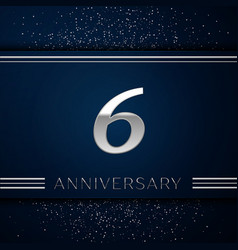 Six years anniversary celebration logotype vector