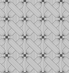 Slim gray hatched crosses on stripes vector