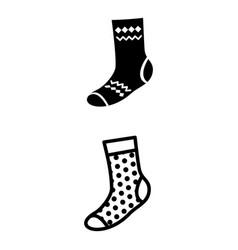 Socks icon simple style vector