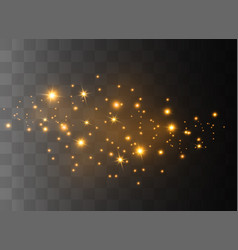 sparkling magical dust vector image