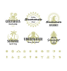 summer holidays typography inspirational quotes or vector image