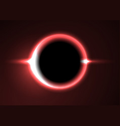 Supermassive black hole or solar eclipse red deep vector