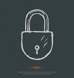 t-shirt graphic padlock grunge on separate layer vector image