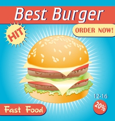 Tasty burger vector