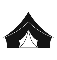 tent with a triangular roof icon simple style vector image