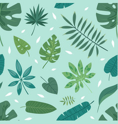 tropical leaves summer green exotic jungle vector image