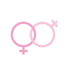 two females gender signs sexual symbols valentines vector image