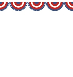 USA patriotic buntings flag Seamles US round vector image