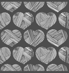 vintage pattern with hearts vector image vector image