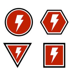 Warning lightning bolt sign vector
