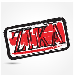 Zika virus grunge rubber stamp vector image