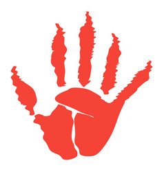 zombie palm icon vector image