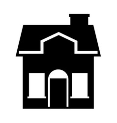 cute house exterior icon vector image vector image