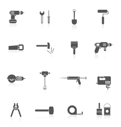 Home Repair Tools Icon Flat vector image vector image