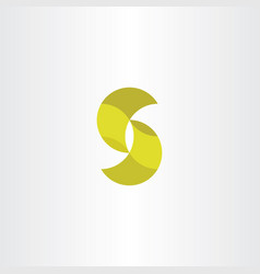 Letter s icon logotype yellow sign vector