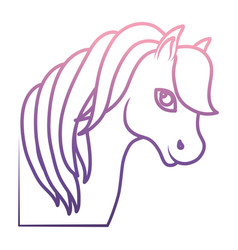 magical unicorn icon vector image