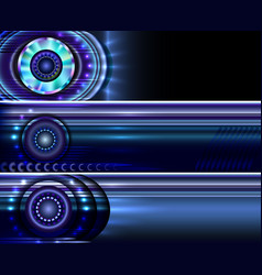 Technology website banners backgrounds templates vector