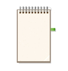 Blank Notebook With Spiral Isolated on White vector image