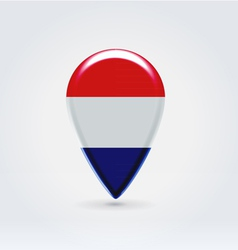 Netherlandian icon point for map vector image