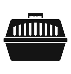 Pet carry case icon simple style vector image