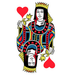 queen of hearts isolated french version vector image vector image