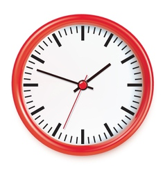 Red wall clocks vector image vector image