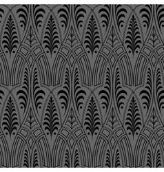 seamless black wallpaper pattern vector image vector image