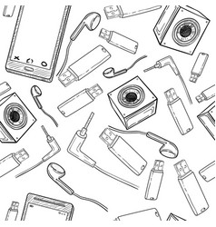 seamless pattern of electronic gadget vector image vector image