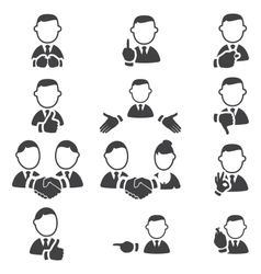 Set of gesture icons vector image vector image