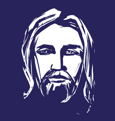 jesus christ the son of god symbol of vector image