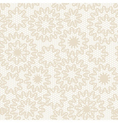 Seamless beige abstract lace vector image vector image