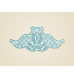 Stamp calligraphic design elements Luxury vector image vector image