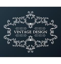 vintage royal old frame ornament decor black vector image