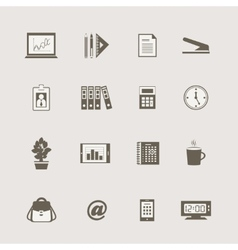 Business stationery supplies internet collection vector image vector image