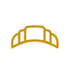 croissant line icon wheat sign for production of vector image