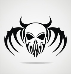 Demon Skulls Tribal vector image