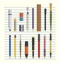 drawing and writing tool set vector image