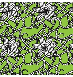 Elegant seamless pattern with flowers vector image