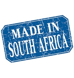 made in South Africa blue square grunge stamp vector image vector image