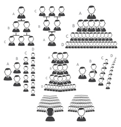 Set of hierarchy icons vector image