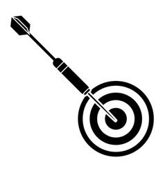 targert dart game sport pictogram vector image