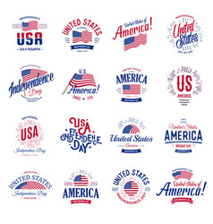 united states of north america logos vector image