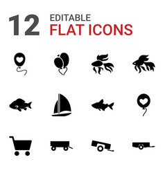 12 eps10 icons vector