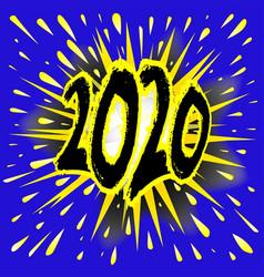 2020 cartoon explosion vector