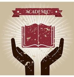 Academic design over beige background vector
