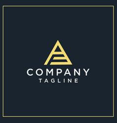 Af or pf triangle logo vector