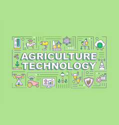 Agriculture technology word concepts banner vector