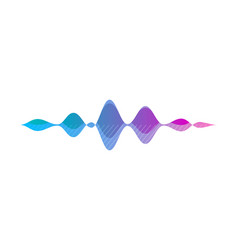 ai voice smart recognition wave app icon vector image