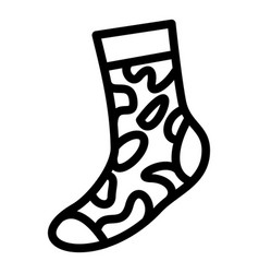 army sock icon simple style vector image