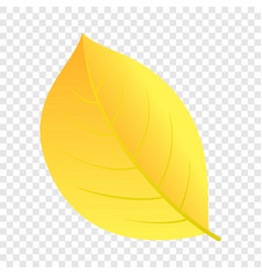 autumn yellow leaf icon flat style vector image